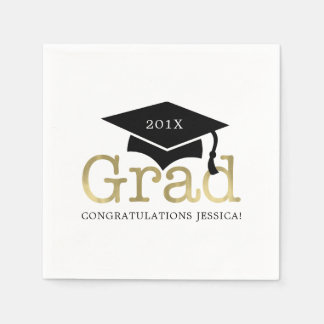 Modern Graduation Paper Napkin