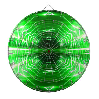 Modern Graphic Abstract Cool Glowing Vortex, Green Dartboard