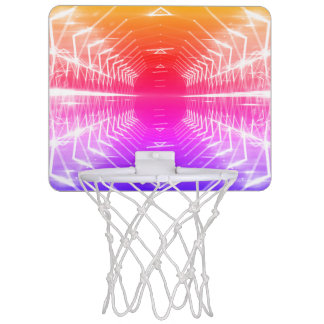 Modern Graphic Abstract Cool Glowing Vortex, Mini Basketball Hoop