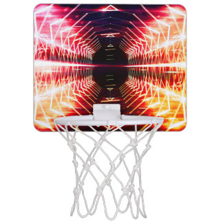 Modern Graphic Abstract Glowing Vortex, Inferno Mini Basketball Hoop