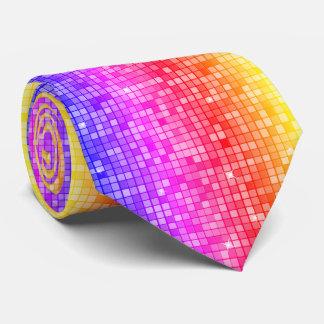 Modern Graphic Block Pattern, Rainbow - Tie