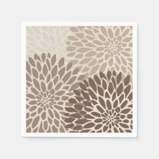 Modern Graphic Chrysanthemums Disposable Napkin