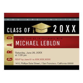 modern graphic concept graduation . grad party postcard