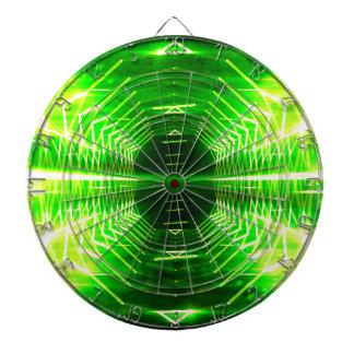 Modern Graphic Cool Glowing Vortex, Neon Green Dartboard