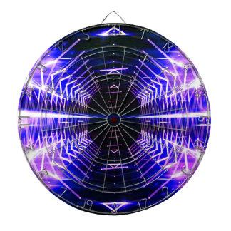 Modern Graphic Cool Glowing Vortex, Ultra Violet Dartboard