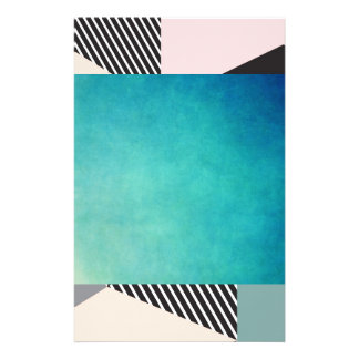 modern,graphic,design,black,pink,mint,cheker,trend personalized stationery