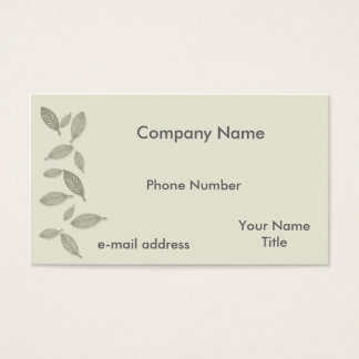 Modern Graphic Ghost Leaves Business Card