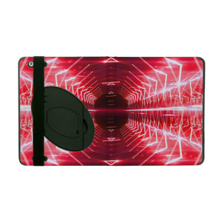 Modern Graphic Glowing Vortex, Red - iPad Cover