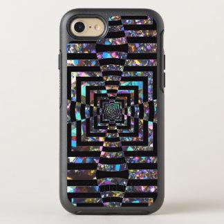 Modern Graphic Iridescent Optical Illusion Vortex, OtterBox Symmetry iPhone 8/7 Case