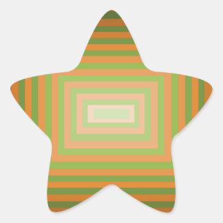 Modern Graphic Square Optical Illusion Art Stickers