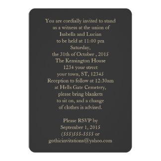 "Modern Gray and Gold Goth Wedding 5"" X 7"" Invitation Card"