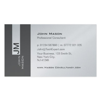 Modern Gray and Platinum Consultant Business Card
