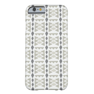 Modern Gray and Tan Tribal Pattern Barely There iPhone 6 Case