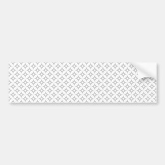 Modern Gray and White Circle Polka Dots Pattern Bumper Sticker