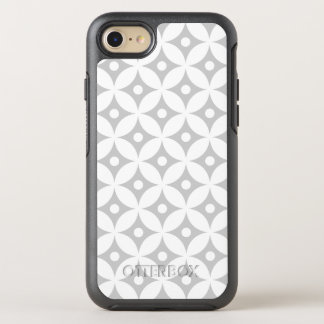 Modern Gray and White Circle Polka Dots Pattern OtterBox Symmetry iPhone 8/7 Case