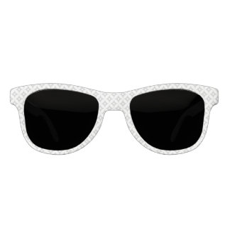 Modern Gray and White Circle Polka Dots Pattern Sunglasses