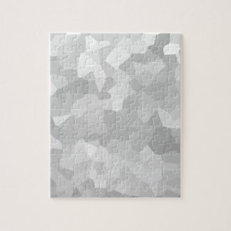 Modern - Gray and White Polygon Shape Abstract Jigsaw Puzzle
