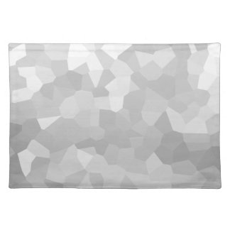 Modern - Gray and White Polygon Shape Abstract Placemat