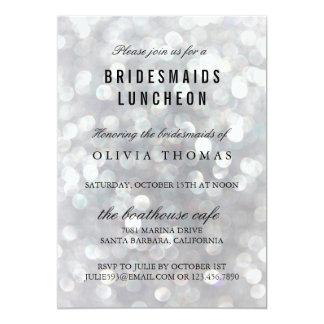 Modern Gray Bridesmaids Luncheon Invitations Card