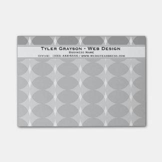 Modern Gray Circles Pattern Post-it® Notes