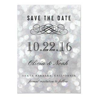 Modern Gray Elegant Save the Date Invitation Card