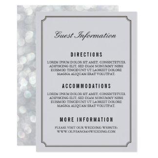 Modern Gray Elegant Wedding Guest Information Card