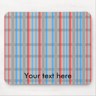Modern gray grid pattern with red and blue stripes mousepads