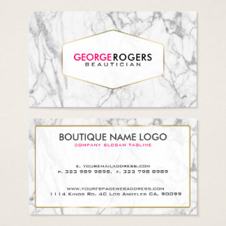 Modern Gray Marble Texture Business Card