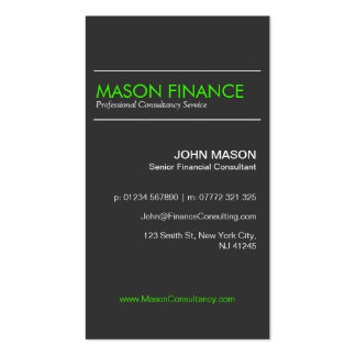 Modern Gray Vertical - Professional Business Card
