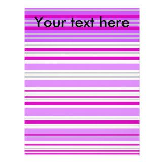 Modern gray violet and pink horizontal stripes full color flyer