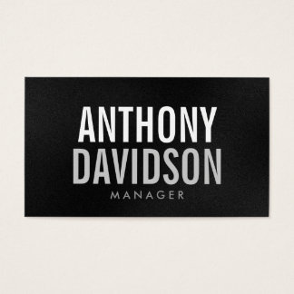 Modern Gray White Huge Bold Text Business Card