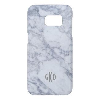Modern Gray & White Marble Stone Print