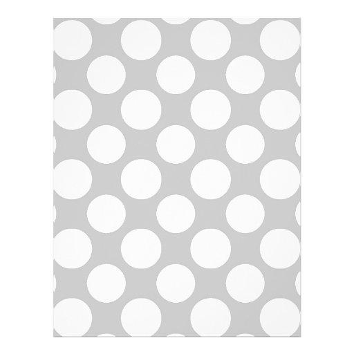 Modern Gray White Polka Dots Pattern Flyer