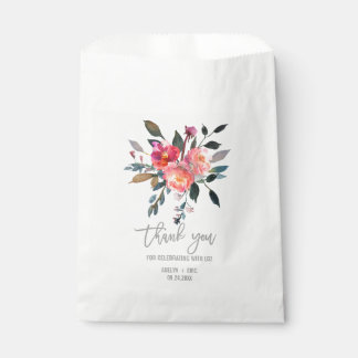 Modern Gray | Winter Flower Favor Bags