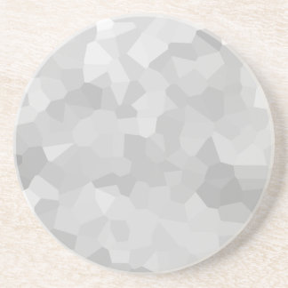 Modern Grayscale - Gray and White Polygon Shape Ab Coaster
