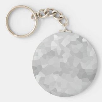 Modern Grayscale - Gray and White Polygon Shape Ab Key Ring