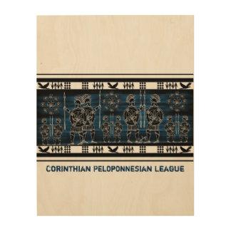 Modern Greek Black Figure Wood Prints