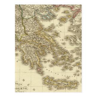 Modern Greek Islands, Albania, Macedonia Postcard