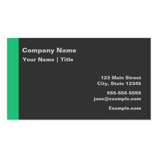 Modern Green and Gray Business Card Templates