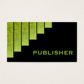 Modern green, black vertical stripes publisher
