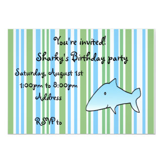 Modern green,blue and white stripes with cute blue card
