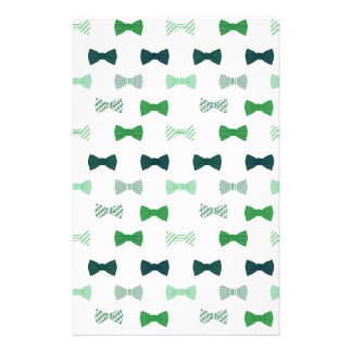 Modern Green Bow Tie pattern bowties Stationery