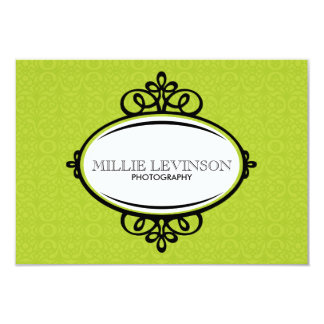 Modern Green Business Tag 9 Cm X 13 Cm Invitation Card