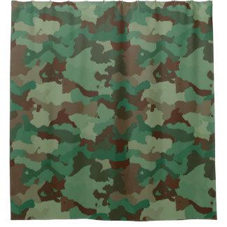 Modern Green Camouflage  Pattern Shower Curtain