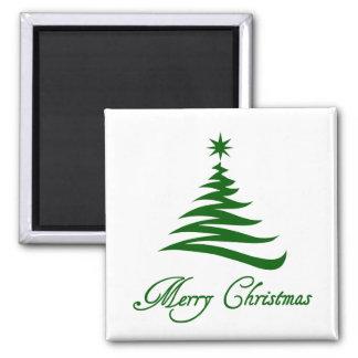 Modern Green Christmas Tree magnet