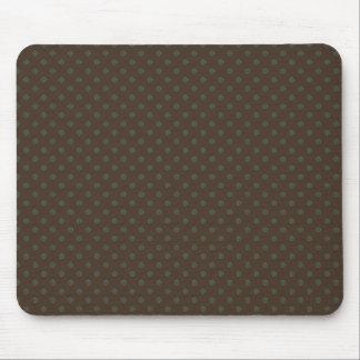 Modern green circles on rough light brown backgrou mousepad