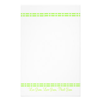 Modern Green Design Personalised Stationery