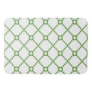 Modern Green Diamond Bath Mat