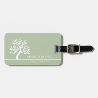 Modern Green Elegant Classy Tree Yoga Instructor Luggage Tag