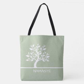 Modern Green Elegant Classy Tree YOGA Tote Bags